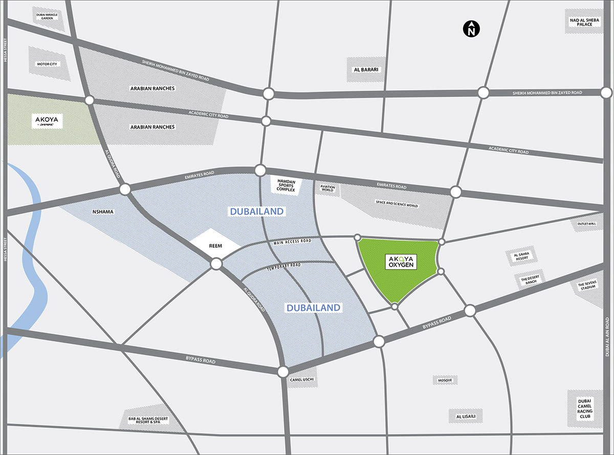Aurum Villas Location Map